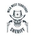 sheriff skull logo vector image