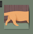 simple things - running cat vector image vector image