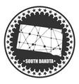 south dakota state map vector image vector image
