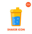 sport shaker icon on white in flat style vector image