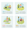 summer outdoor sports activities active people vector image vector image