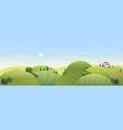 sunny summer rural landscape vector image vector image