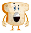 toast on white background vector image