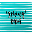 trendy hand lettering poster hand drawn vector image vector image