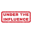 Under The Influence Rubber Stamp vector image