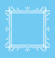 vintage ornamental frame on blue background vector image