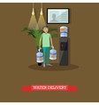 Water delivery service concept vector image