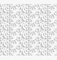 white seamless pattern with paper swirls vector image