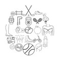 workout icons set outline style vector image vector image