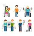 disabled sports handicapped vector image