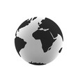 earth globe vector image