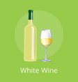 white wine set of two items vector image