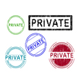 5 Grunge Stamps PRIVATE vector image vector image