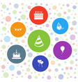 7 birthday icons vector image vector image