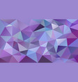 abstract irregular polygonal background purple vector image vector image