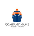 abstract ship logo yacht icon ocean ship graphic vector image vector image