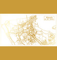 almada portugal city map in retro style in golden vector image vector image