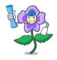 architect pansy flower character cartoon vector image