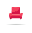 Armchair isolated on a white backgrounds vector image vector image