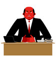 big boss angry great boss is wicked business vector image vector image