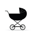 black baby carriage vector image vector image