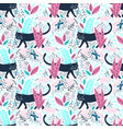 black panther in jungle seamless pattern vector image