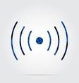 blue black tartan icon - sound vibration symbol vector image vector image