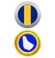 button as a symbol BARBADOS vector image vector image
