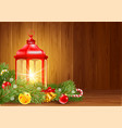 christmas and new year design with christmas vector image