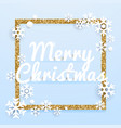 christmas greeting card realistic volumetric vector image vector image