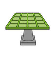 color image cartoon solar energy panel on platform vector image vector image