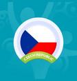 czech republic flag european football 2020 vector image vector image