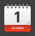 december 1 calendar daily icon vector image vector image