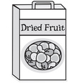 Dried fruit vector image