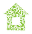 eco house vector image