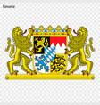 emblem of bavaria province of germany vector image