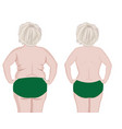 fat and slim girls back vector image vector image