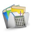 folder storage vector image vector image