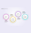 four steps infographics - circle infographics vector image vector image
