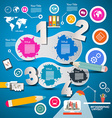Four Steps Modern Infographics Layout with vector image vector image