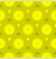 fresh lemon orange fruits seamless pattern vector image vector image