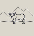 geometric of a bull vector image