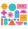 geometric shapes characters basic abstract vector image vector image