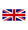 great britain flag jack uk grunge flag isolated vector image