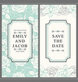 hand drawn tulip save the date pattern set vector image