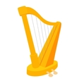 Harp icon cartoon style vector image vector image