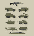 infographics of military equipment vector image vector image