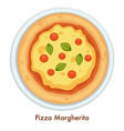 italian cuisine pizza margherita food italy vector image