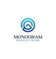 letter g monogram logo template vector image vector image