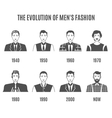 Men Fashion Avatar Evolution Icons Set vector image vector image